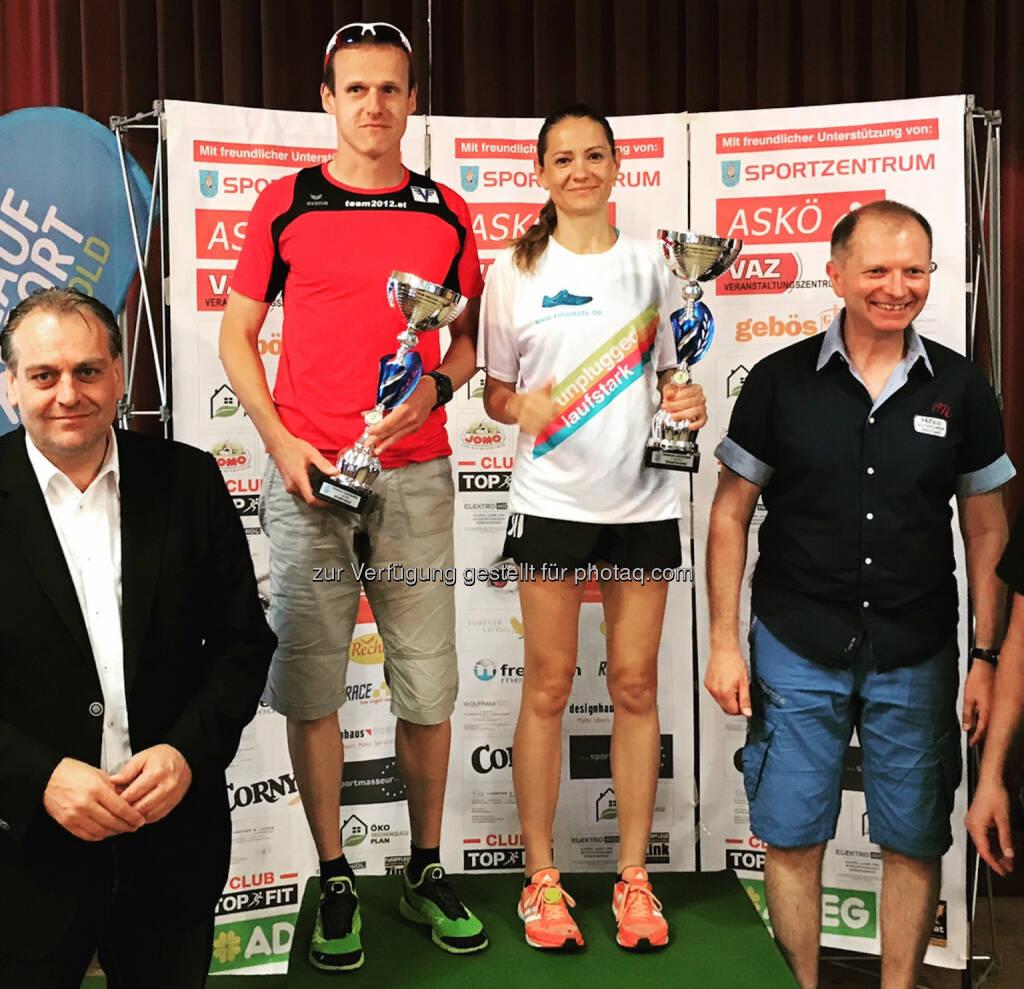 Damensiegerin Diana Berisha im Runplugged Leiberl (11.06.2017)