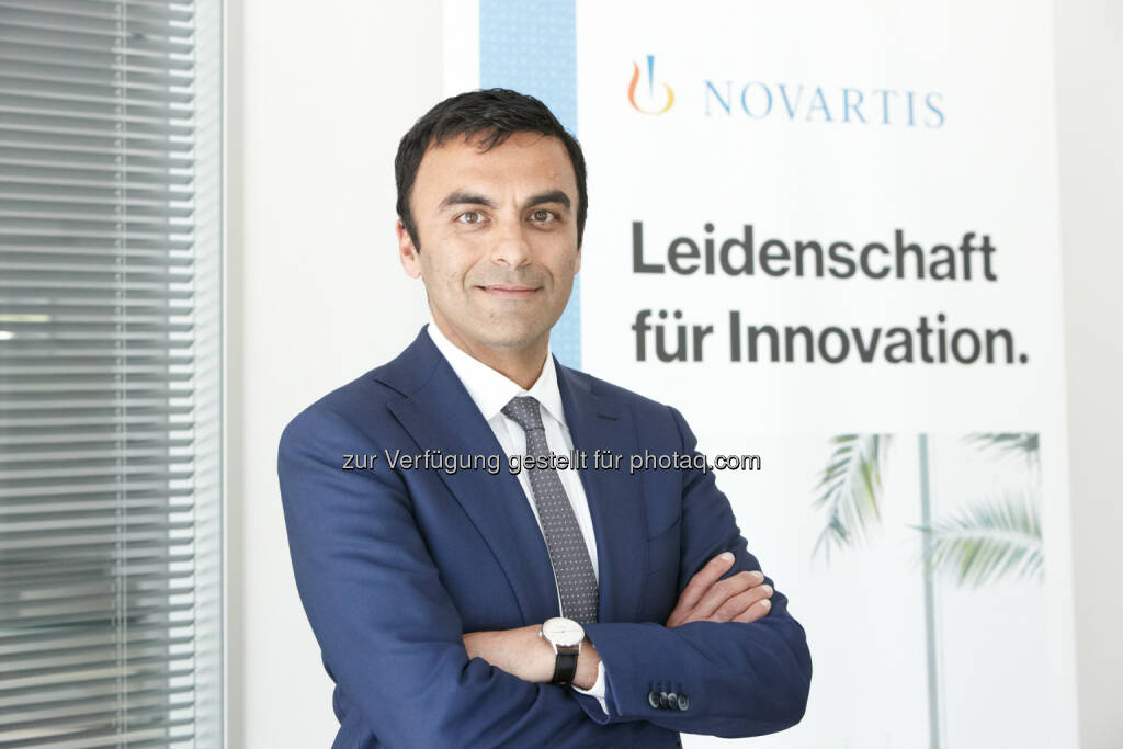 Neuer Chef für den Marktführer Novartis Pharma GmbH: Chinmay Bhatt, 43 - Novartis Austria GmbH: Chinmay Bhatt wird neuer Geschäftsführer der Novartis Pharma GmbH (Fotocredit: Novartis/APA-Fotoservice/Roßboth), © Aussender (13.06.2017)