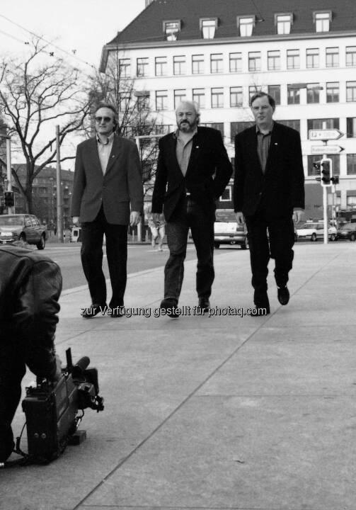 Hans-Ueli Rihs, Andy Rihs, Beda Diethelm - Phonak AG: 70 Jahre Phonak - Leben verändern und Grenzen überwinden  (Fotocredit:Phonak AG)