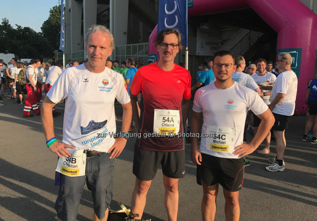 Runplugged Laufstark Team - Christian Drastil, Josef Chladek, Michael Plos (23.06.2017)