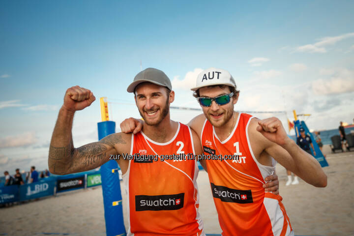 Tobias Winter und Robin Seidl - Beach Majors GmbH: Teilnehmerfeld für die FIVB Beach Volleyball WM 2017 komplett (Fotograf: Martin Steinthaler | tinefoto.com / Fotocredit: Beach Majors GmbH)