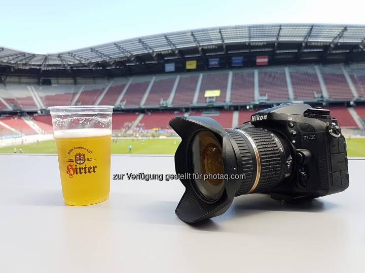 Hirter Bier, Nikon, Fotoapparat, Kamera