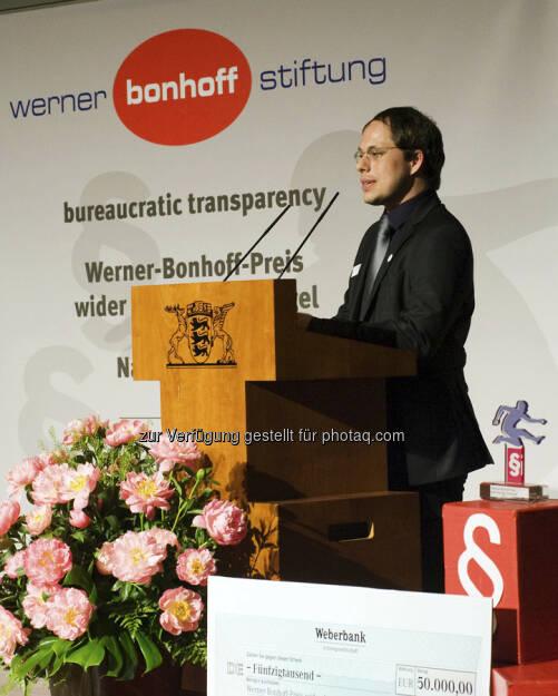 Tim Wessels (Preisträger 2013): Er hat vor gut einem Jahr eine Online-Petition gegen die geplante Rentenpflicht für Selbständige initiiert. 80.000 Mitzeichner unterschrieben innerhalb weniger Wochen den Aufruf, © gruendungszuschuss.de (19.05.2013)