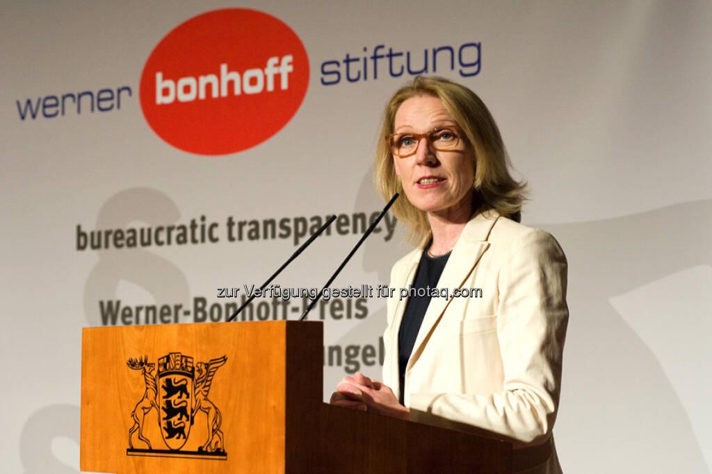 Staatssekretärin  Annette Niederfranke (Laudatorin), © gruendungszuschuss.de (19.05.2013)
