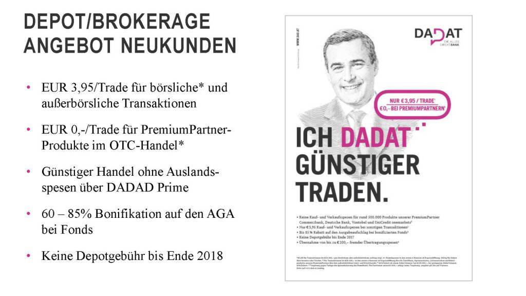 Präsentation dad.at - Depot/Brokerage Angebot Neukunden (02.07.2017)