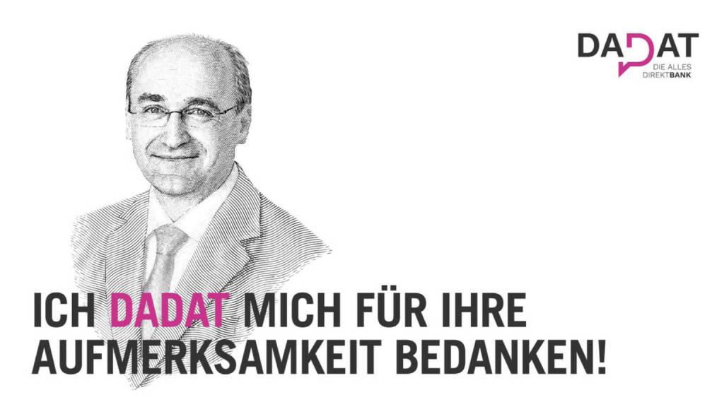 Präsentation dad.at - Ernst Huber: Ich dadat mich für Ihre Aufmerksamkeit bedanken! (02.07.2017)