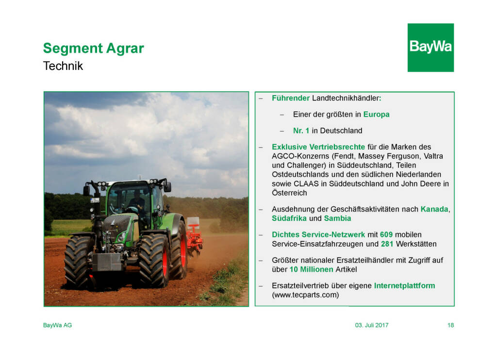 Präsentation BayWa - Segment Agrar (03.07.2017)