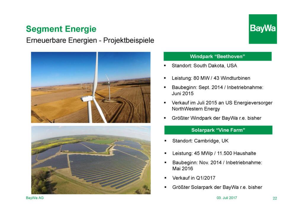 Präsentation BayWa - Segment Energie (03.07.2017)
