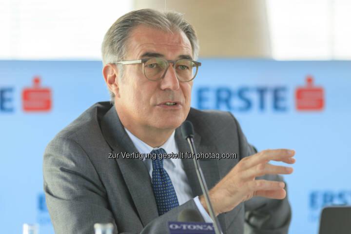 Fritz Mostböck, Leiter des Bereichs Group Research bei der Erste Group; Bild: Erste Group, Daniel Hinterramskogler