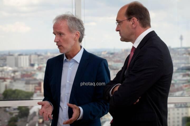 Christian Drastil (BSM), Ernst Huber (dad.at Bank)