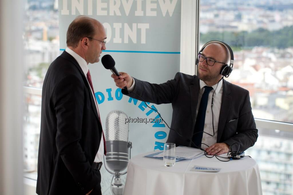 Ernst Huber (dad.at Bank) im Interview mit Sebastian Leben (boersenradio.at), © Michaela Mejta (04.07.2017)