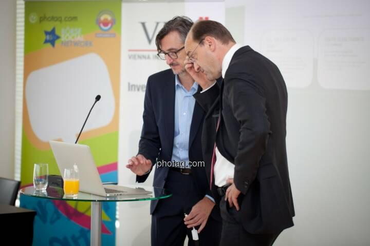 Josef Chladek (Börse Social Network), Ernst Huber (dad.at Bank)