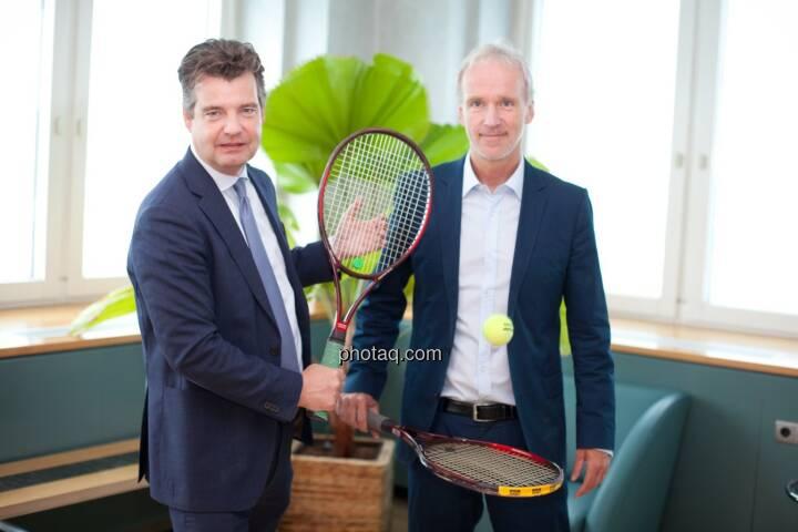Großes Tennis: Marc Tüngler (DSW), Christian Drastil (BSN)
