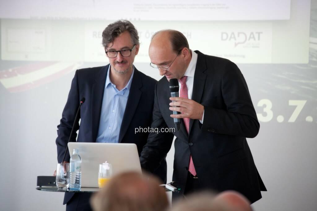 Josef Chladek (BSN), Ernst Huber (dad.at Bank), © Michaela Mejta (04.07.2017)
