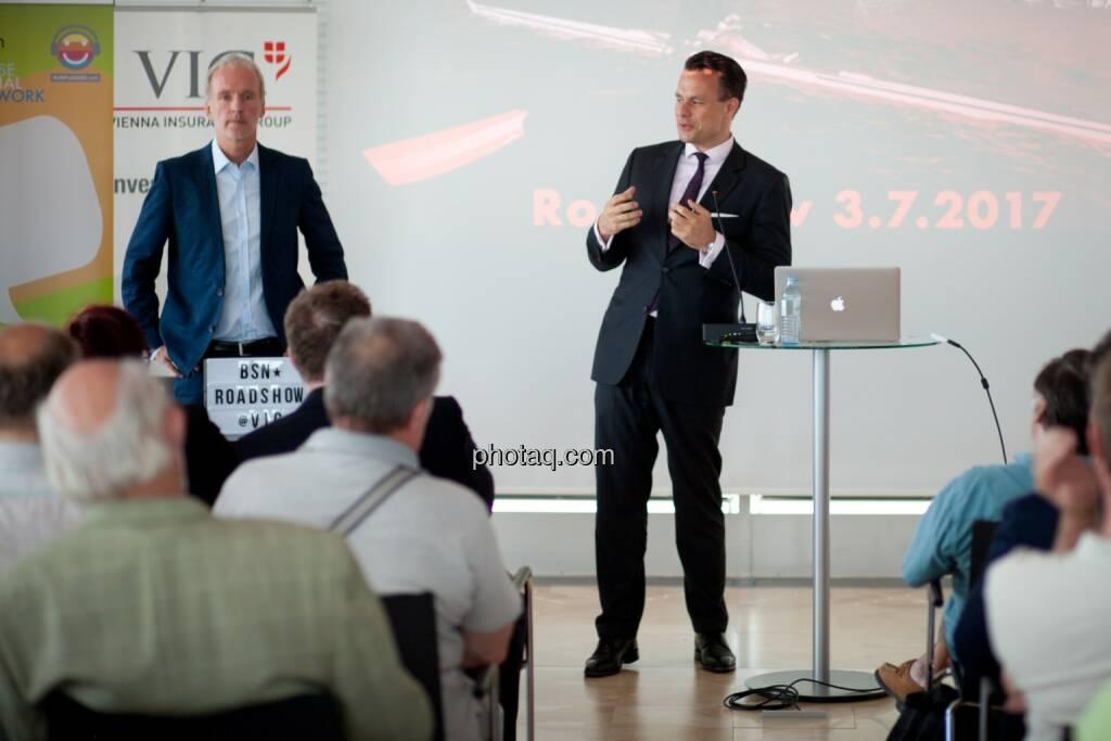 Wiener Börse-Chef Christoph Boschan spricht zu den Privatanlegern bei der Roadshow #71, © Michaela Mejta (04.07.2017)