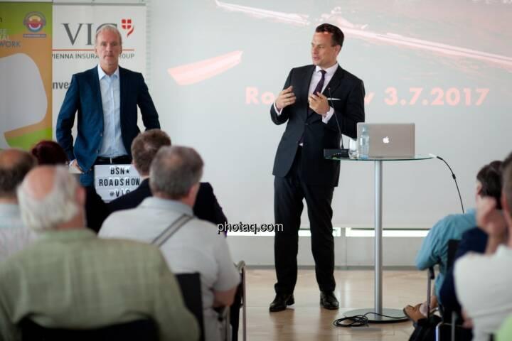 Wiener Börse-Chef Christoph Boschan spricht zu den Privatanlegern bei der Roadshow #71