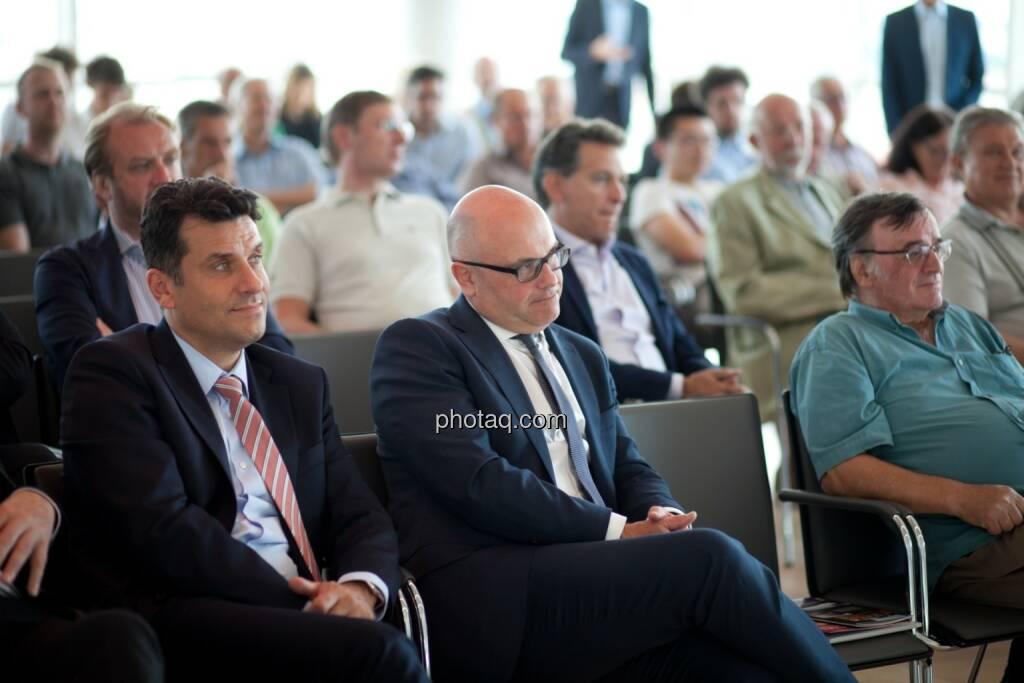 Josko Radeljic (BayWa AG), Ulrich Brockmann (Fielmann AG) plus Gäste der Roadshow, © Michaela Mejta (04.07.2017)