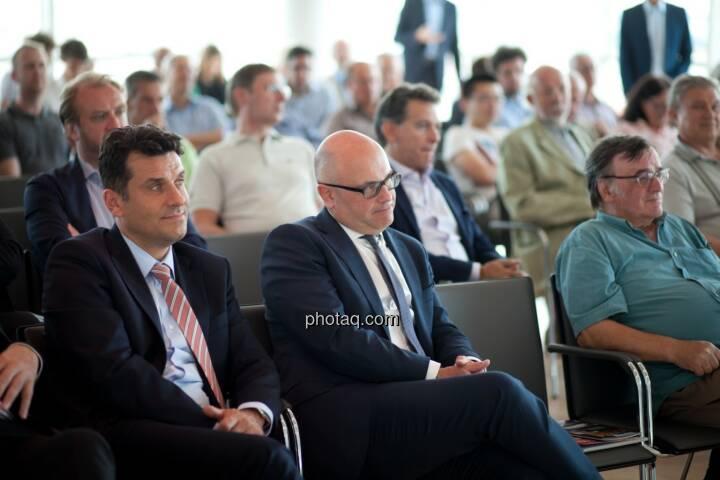 Josko Radeljic (BayWa AG), Ulrich Brockmann (Fielmann AG) plus Gäste der Roadshow