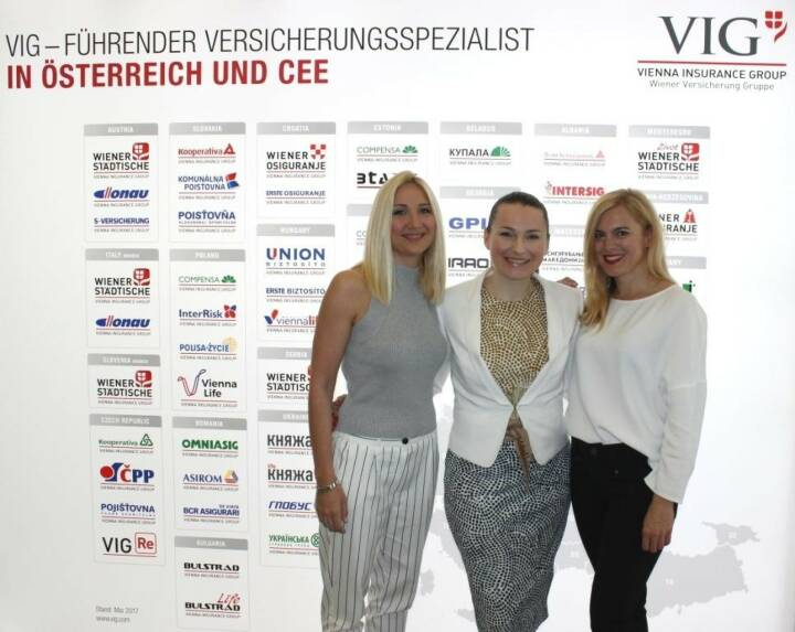 "VIG offers group-wide mobility programs to facilitate trainings and know-how transfer between the VIG Head Office and our Group companies in CEE. Ana Kovacevic (Croatia) and Miona Graorac (Bosnia and Herzegovina) are spending a few months here to learn about VIG standards and processes in the fields of Corporate Risk Business and Actuarial Services. Angela Fleischlig-Tangl (middle) from the HR department is convinced that ""the programs are intense and quite a challenge both on a personal and professional level, but it is wonderful to see the candidates connecting with our teams and enjoy the international exposure."""