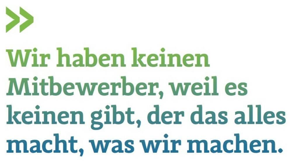 Wir haben keinen Mitbewerber, weil es keinen gibt, der das alles macht, was wir machen. (Tjark Schütte, Deutsche Post, Leiter Investor Relations) (07.07.2017)