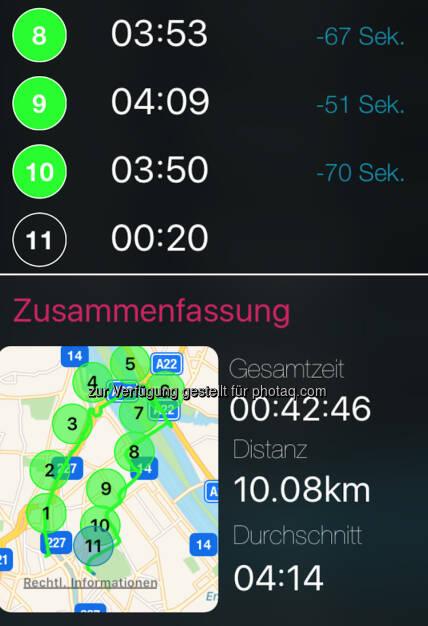 10k mit schnellem Schluss via runplugged.com/app (10.07.2017)