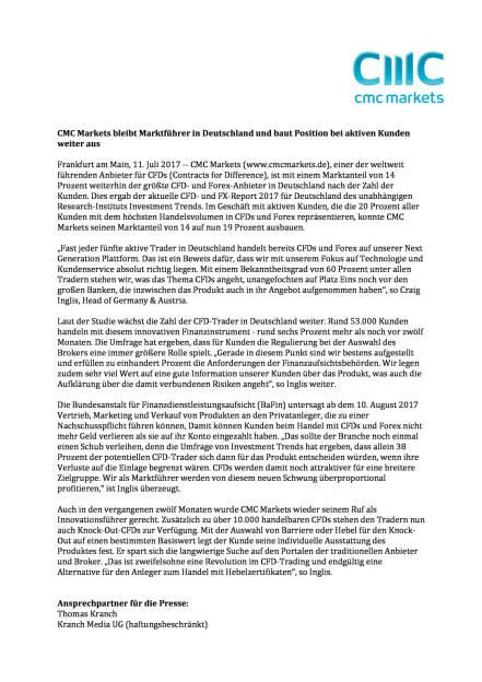 CMC Markets bleibt Marktführer in Deutschland, baut Position bei aktiven Kunden weiter aus, Seite 1/2, komplettes Dokument unter http://boerse-social.com/static/uploads/file_2286_cmc_markets_bleibt_marktfuhrer_in_deutschland_baut_position_bei_aktiven_kunden_weiter_aus.pdf (11.07.2017)