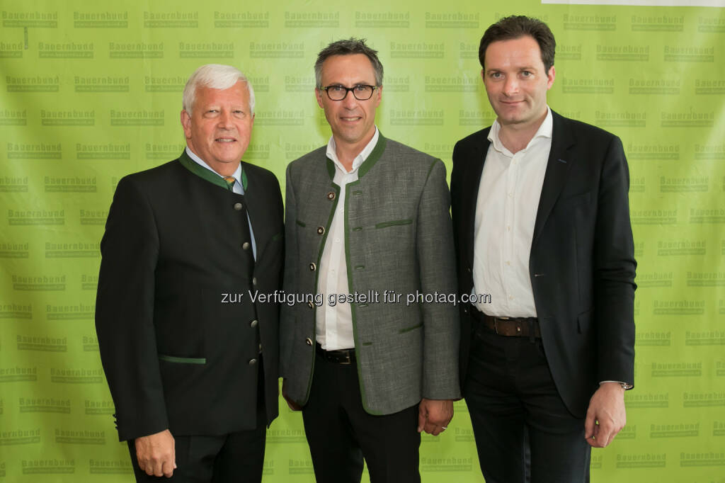 Jakob Auer, Georg Strasser, Norbert Totschnig - Bauernbund Österreich (BBÖ): Bauernbund: Georg Strasser folgt Jakob Auer als Präsident nach (Fotocredit: Harald Klemm), © Aussender (12.07.2017)