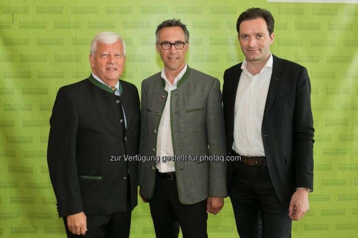 Jakob Auer, Georg Strasser, Norbert Totschnig - Bauernbund Österreich (BBÖ): Bauernbund: Georg Strasser folgt Jakob Auer als Präsident nach (Fotocredit: Harald Klemm)