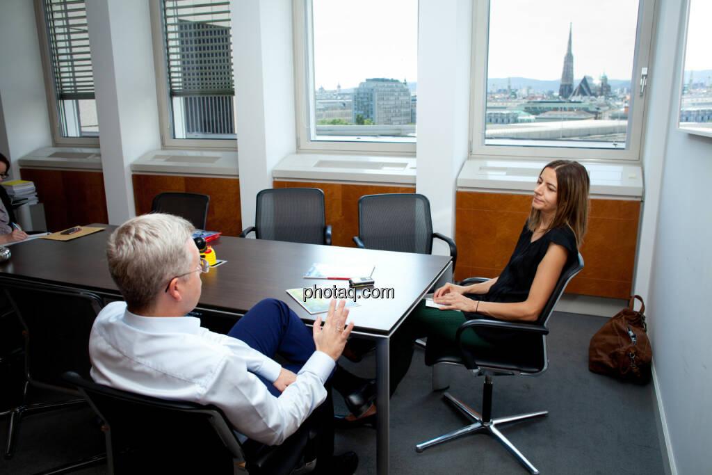 Michael Höllerer (RBI) Christine Petzwinkler (Börse Social Network) (Fotocredit: Michaela Mejta/photaq.com)  (19.07.2017)