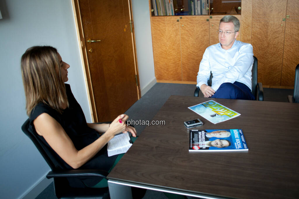 Christine Petzwinkler (Börse Social Network), Michael Höllerer (RBI) (Fotocredit: Michaela Mejta/photaq.com)  (19.07.2017)