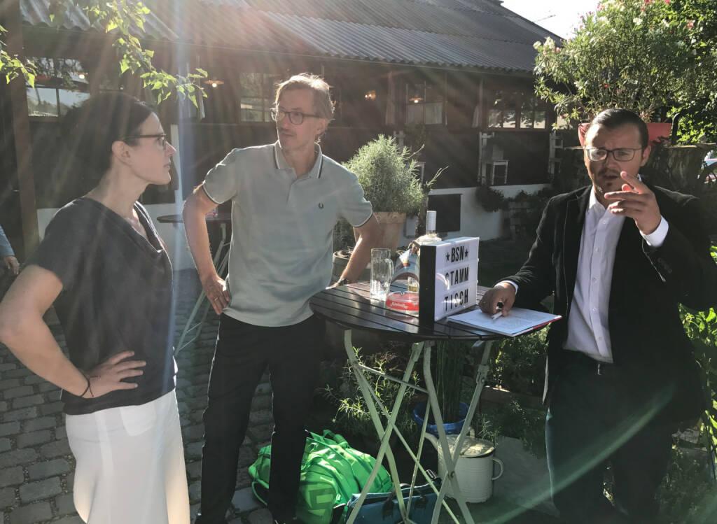 Bettina Schragl (Immofinanz) mit Josef Chladek und Michael Plos (BSN) (26.07.2017)