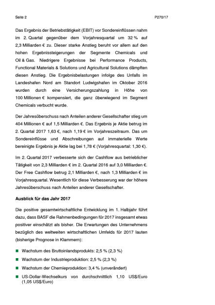 BASF - Q2, Seite 2/6, komplettes Dokument unter http://boerse-social.com/static/uploads/file_2296_basf_-_q2.pdf (27.07.2017)