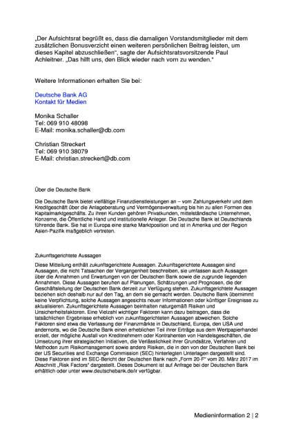 Deutsche Bank: Vorstand verzichtet freiwillig auf Bonuszahlungen von 38,4 Mio. Euro, Seite 2/2, komplettes Dokument unter http://boerse-social.com/static/uploads/file_2299_deutsche_bank_vorstand_verzichtet_freiwillig_auf_bonuszahlungen_von_384_mio_euro.pdf (27.07.2017)