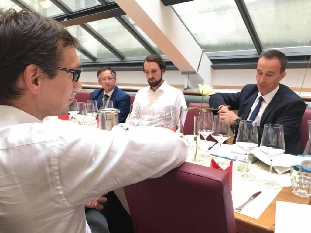 Emerging Markets Event von Erste Asset Management, hier Gerhard Winzer, Dieter Kerschbaum, Peter Varga (28.07.2017)