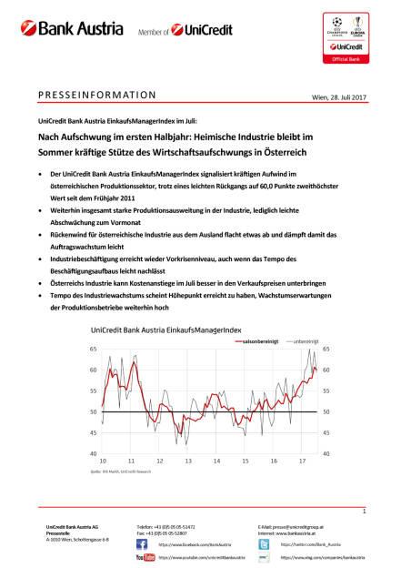 Heimische Industrie bleibt im Sommer kräftige Stütze des Wirtschaftsaufschwungs in Österreich, Seite 1/4, komplettes Dokument unter http://boerse-social.com/static/uploads/file_2300_heimische_industrie_bleibt_im_sommer_kraftige_stutze_des_wirtschaftsaufschwungs_in_osterreich.pdf (28.07.2017)