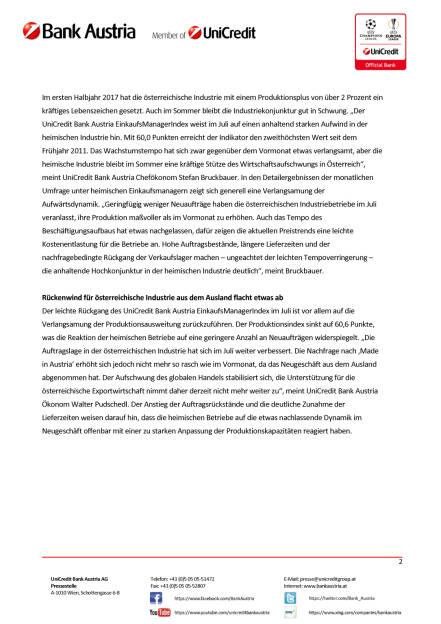 Heimische Industrie bleibt im Sommer kräftige Stütze des Wirtschaftsaufschwungs in Österreich, Seite 2/4, komplettes Dokument unter http://boerse-social.com/static/uploads/file_2300_heimische_industrie_bleibt_im_sommer_kraftige_stutze_des_wirtschaftsaufschwungs_in_osterreich.pdf (28.07.2017)