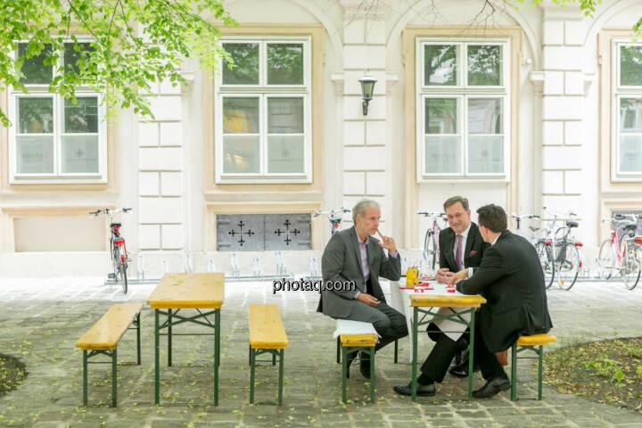 Christian Drastil (BSN), Nico Baader (Baader Bank), Christoph Boschan (Wiener Börse)