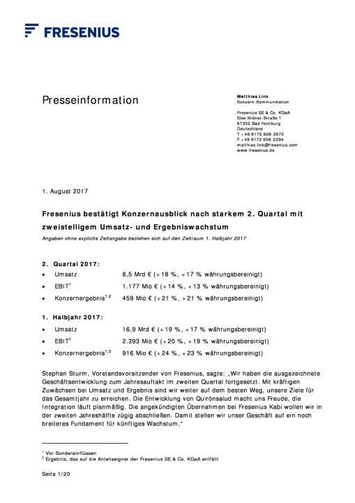 Fresenius: Q2, Seite 1/20, komplettes Dokument unter http://boerse-social.com/static/uploads/file_2302_fresenius_q2.pdf