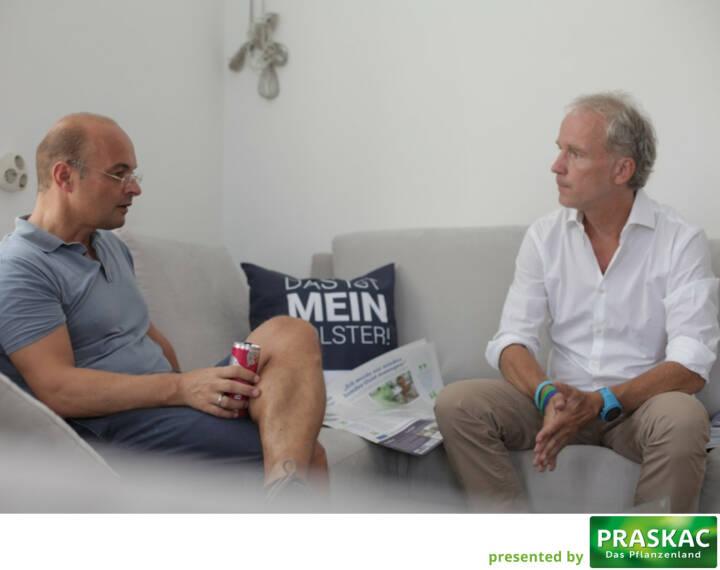 Werner Lanthaler,  Christian Drastil im Interview, das heute Mittag als Covertalk für die #7 von http://www.boerse-social.com/magazine geführt worden ist (c) Michaela Mejta