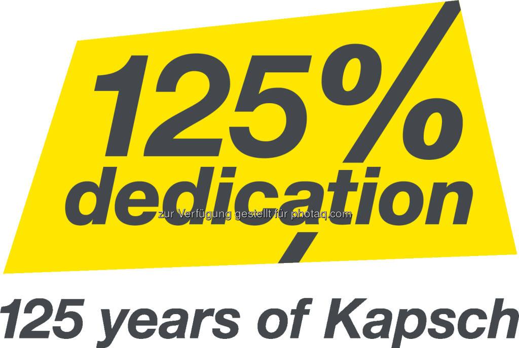 Das Logo zum 125. Jubiläum von Kapsch. ©Kapsch Group (07.08.2017)