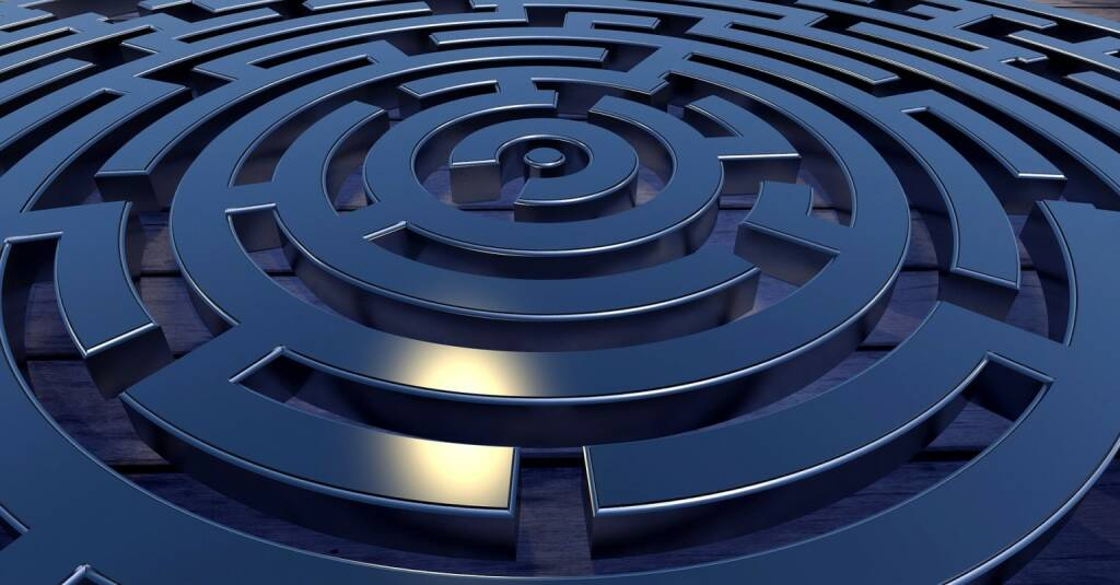 Labyrinth, Weg, Ziel, Fokus, Zick-Zack, zickzack (Bild: Pixabay/PIRO4D https://pixabay.com/de/labyrinth-ziel-weg-konzeption-2037286/ ) (08.08.2017)