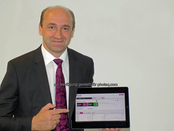 Ernst Huber,  Chef der österreichischen Direktbank DADAT, Bild: DADAT