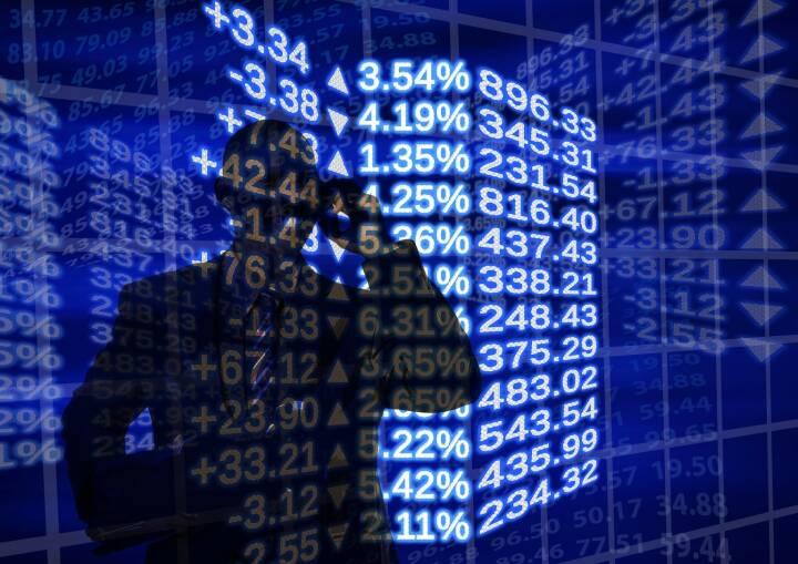 Plus, Minus, Aktie, Börse, Chart, Performance, Plusminus, Traden, Trader (Bild: Pixabay/geralt https://pixabay.com/de/börse-weltwirtschaft-mann-911609/ )