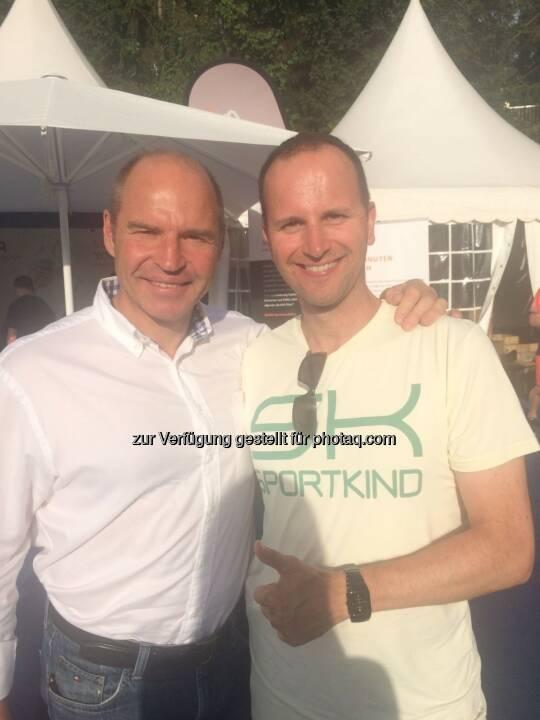 Mit dem 4-fachen Ski-Weltmeister, 2-fachen Olympia Silber Medaillen Gewinner und als Bemer Sport Botschafter Marc Giradelli beim ATP Generali Open in Kitzbühel