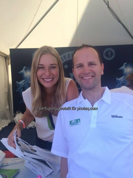 Die bezaubernde Tirolerin -> Ex-Fed Cup Spielerin und Eurosport Moderatorin Babsi Schett und ich am Babsi Schett Ladies Days beim ATP Generali Open in Kitzbühel