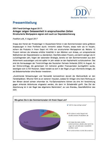 DDV-Trend-Umfrage August 2017, Seite 1/2, komplettes Dokument unter http://boerse-social.com/static/uploads/file_2307_ddv-trend-umfrage_august_2017.pdf (09.08.2017)