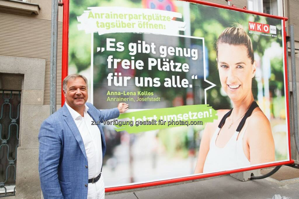 Walter Ruck - Wirtschaftskammer Wien: Ruck: Anrainerparkzonen rasch öffnen (Fotograf: Florian Wieser / Fotocredit: WKW), © Aussender (09.08.2017)