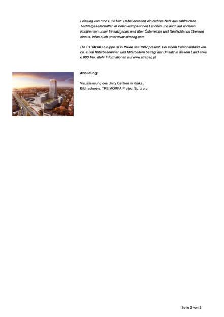 Strabag realisiert den höchsten Turm Krakaus, Seite 2/2, komplettes Dokument unter http://boerse-social.com/static/uploads/file_2308_strabag_realisiert_den_hochsten_turm_krakaus.pdf (10.08.2017)