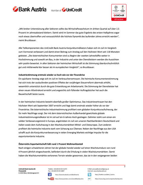UniCredit Bank Austria Konjunkturindikator: Österreichs Wirtschaft im Sommerhoch, Seite 2/5, komplettes Dokument unter http://boerse-social.com/static/uploads/file_2309_unicredit_bank_austria_konjunkturindikator_osterreichs_wirtschaft_im_sommerhoch.pdf (16.08.2017)