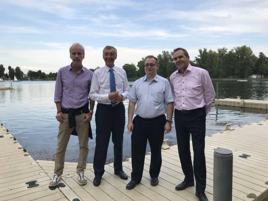 Christian Drastil, Thomas Birtel, Gregor Rosinger, Wolfgang Matejka - Börse Social Stammtisch #2 (Fotocredit: Michael J. Plos) (17.08.2017)